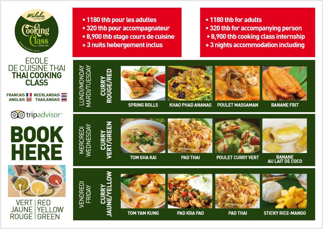 Cours de cuisine Chiang Mai